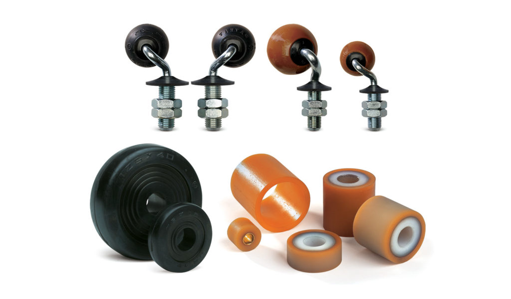 Glass transport roller and ball castors