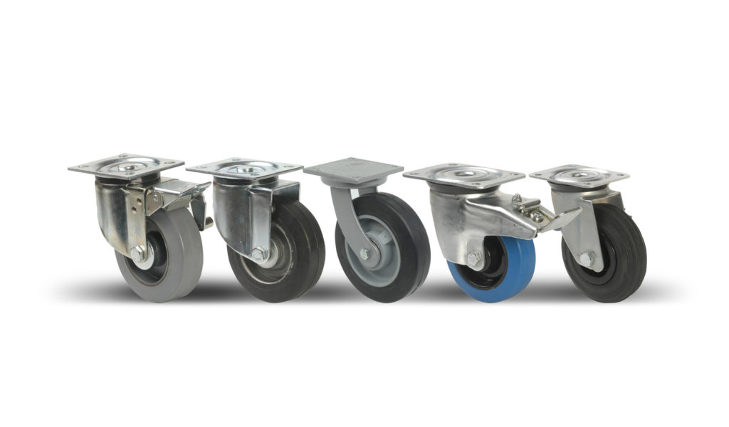Industrial & heavy duty wheels & castors rubber